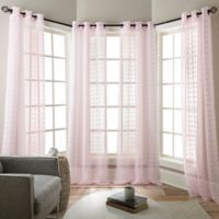 Olly 84-Inch Grommet Sheer Window Curtain Panels in Baby Pink (Set of 4)