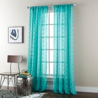 Jess 84-Inch Rod Pocket Sheer Window Curtain Panel in Turquoise