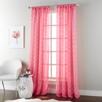 Jess 84-Inch Rod Pocket Sheer Window Curtain Panel in Azalea Pink