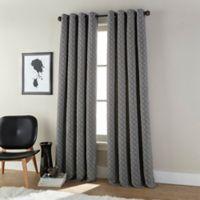 Harrison 84-Inch Grommet Room Darkening Window Curtain Panel in Anthracite