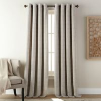 Fuller 84-Inch Grommet Room Darkening Window Curtain Panel in Steel Grey