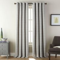 Fuller 84-Inch Grommet Room Darkening Window Curtain Panel in Aluminum