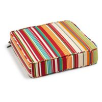 Stripe Outdoor Deep Seat Cushion in Red