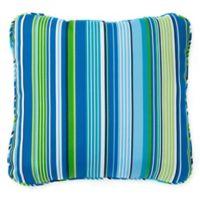 Stripe Outdoor Deep Seat Back Cushion in Ocean
