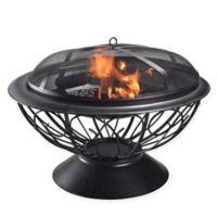 Peaktop Coal Burning 30-Inch Round Steel Fire Pit in Black