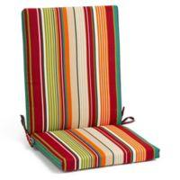 Stripe Indoor/Outdoor Folding Wicker Chair Cushion in Tahoe