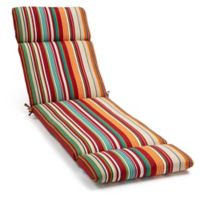 Stripe Chaise Indoor/Outdoor Multicolor Chair Cushion