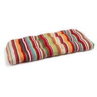 Stripe Settee Indoor/Outdoor Cushion in Red