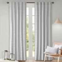 Urban Habitat 84-Inch Rod Pocket/Back Tab Brooklyn Window Curtain Panel in Grey