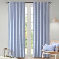 Urban Habitat 63-Inch Rod Pocket/Back Tab Brooklyn Window Curtain Panel in Blue