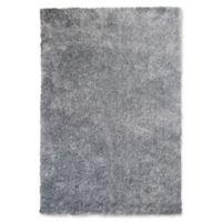 KAS Fina Silky Shag 5' x 7' Area Rug in Silver