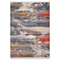 KAS Papillon Surf Line 5'3 x 7'10 Area Rug in Ivory