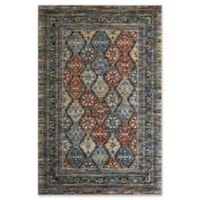 Rugs America Sela Vintage 9' X 12' Powerloomed Area Rug in Blue