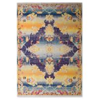 Rugs America Bend Vintage Transitional 5' X 7' Powerloomed Area Rug in Gold