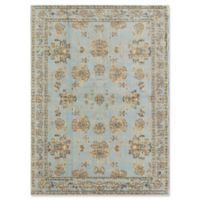 Rugs America Nanon 5' X 7' Powerloomed Area Rug in Light Blue