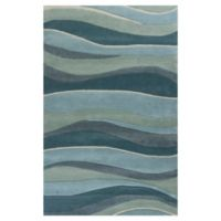 KAS Eternity Landscapes 3'3 x 5'3 Area Rug in Ocean