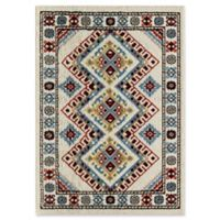 Rugs America Alber 5' X 7' Powerloomed Area Rug in White
