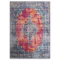 Rugs America Skylar Contemporary Transitional 8' X 10' Powerloomed Area Rug in Red