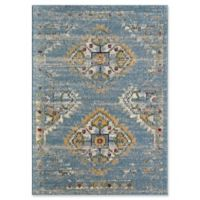 Rugs America Nestor 5' X 7' Powerloomed Area Rug in Blue