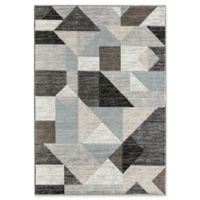 Rugs America Tyson Pleasance 5' X 7' Powerloomed Area Rug in Grey