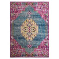 Rugs America Bend Classic 8' X 10' Powerloomed Area Rug in Blue