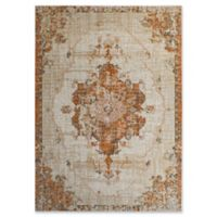 Rugs America Bend Vintage Contemporary 5' X 7' Powerloomed Area Rug in Cream