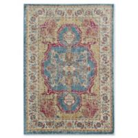 Rugs America Avenue Vintage Transitional 5' X 7' Powerloomed Area Rug in Blue