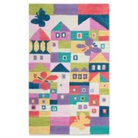 Rizzy Home Houses 3' X 5' Tufted Area Rug in Pink