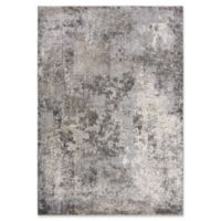 """Rizzy Home Abstract 6'7"""" X 9'6"""" Powerloomed Area Rug in Silver"""