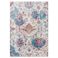 "Rizzy Home Vine/diamond 3'11"" X 5'6"" Powerloomed Area Rug in Cream"