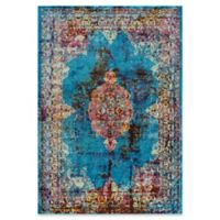 """Rizzy Home Meadallion 8'10"""" X 11'10"""" Powerloomed Area Rug in Blue"""