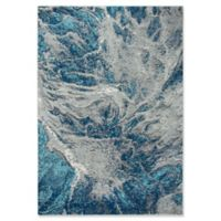 """Rizzy Home Abstract 5'3"""" X 7'6"""" Powerloomed Area Rug in Navy"""