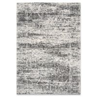 """Rizzy Home Abstract 6'7"""" X 9'6"""" Powerloomed Area Rug in Ivory"""
