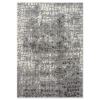 """Rizzy Home Abstract 3'11"""" X 5'6"""" Powerloomed Area Rug in Ivory/grey"""