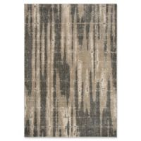 """Rizzy Home Abstract 6'7"""" X 9'6"""" Powerloomed Area Rug in Beige"""