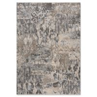 """Rizzy Home Abstract 6'7"""" X 9'6"""" Powerloomed Area Rug in Beige/grey"""