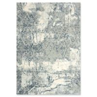 """Rizzy Home Abstract 5'3"""" X 7'6"""" Powerloomed Area Rug in Cream/grey"""