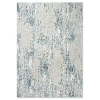 """Rizzy Home Abstract 5'3"""" X 7'6"""" Powerloomed Area Rug in Cream"""