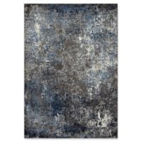 "Rizzy Home Abstract 5'3"" X 7'6"" Powerloomed Area Rug in Silver"