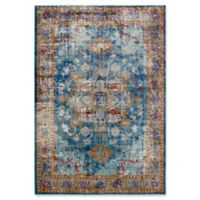 """Rizzy Home Medallion 8'10"""" X 11'10"""" Powerloomed Area Rug in Blue"""