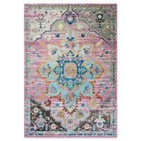 Rizzy Home Meadallion 5' X 7' Powerloomed Area Rug in Gray