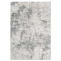 """Rizzy Home Abstract 3'11"""" X 5'6"""" Powerloomed Area Rug in Cream"""
