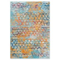 """Rizzy Home Abstract 5'3"""" X 7'6"""" Powerloomed Area Rug in Turquoise"""