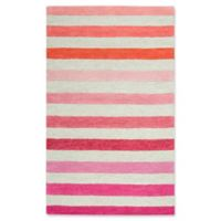 Rizzy Home Stripes 3' X 5' Tufted Area Rug in Pink