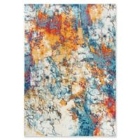 """Rizzy Home Abstract 5'3"""" X 7'6"""" Powerloomed Area Rug in Ivory"""