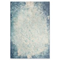 "Rizzy Home Vine/scroll 8'6"" X 11'10"" Powerloomed Area Rug in Teal"