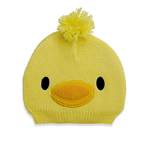 Cotton Knit Chick Hat in Yellow