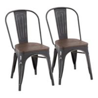 Lumisource® Oregon Dining Chairs in Black (Set of 2)