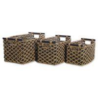 LaMont Home™ Jada 3-Piece Storage Basket Set in Black/Brown