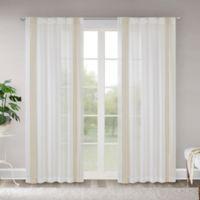 Madison Park Terra 84-Inch Rod Pocket/Back Tab Sheer Window Curtain Panel in Tan